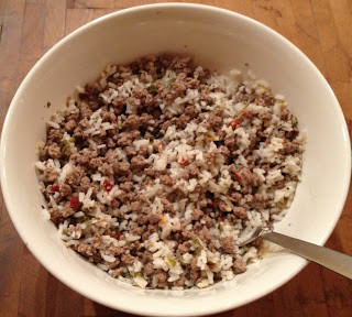 Cheesy Rice With Beef Food Storage Recipe