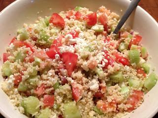 Couscous Salad Feta Tomatoes Cucumber