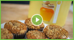 Honey Oat Muffins Video