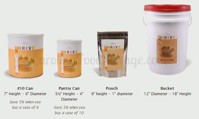 THRIVE Life Food Storage